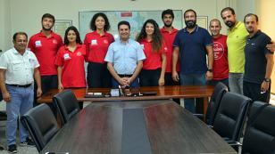 Ataşbak, Balkan kürek yarışında madalya alan  sporcularını kabul etti