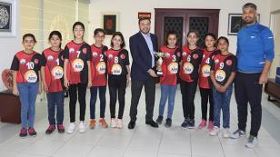 Başkan Kocaispir şampiyonları kabul etti...