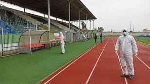 Adana'daki Yurtlar ve Spor Tesisleri Dezenfekte Ediliyor