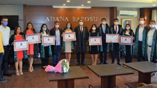 Adana Barosu'nda cübbe ve ruhsat heyecanı...