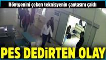Ambulansla getirildiği hastanede hırsızlık yaptı