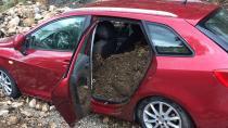 Toprak Kayması Sonucu Otomobilde Mahsur Kalan 4 Kişi Kurtarıldı