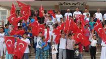 Yaz Kur'an kursu öğrencileri 15 Temmuz şehitlerini unutmadı