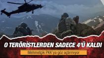 22 kişilik Karadeniz grubundan geriye 4 PKK'lı terörist kaldı