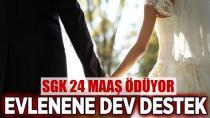 Evlenene 24 maaşlık ödeme!