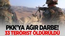 1 Haftada 33 terörist öldürüldü!
