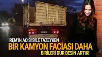 Bir kamyon dehşeti de Adana'da yaşandı...