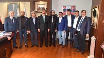 TÜMSİAD'dan Başkan Çetin'e 'Taziye' Ziyareti