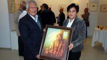 Ressam Ballı'dan Yazar Babacanoğlu'na tablo