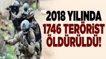 107'si sözde üst düzey 1746 terörist etkisiz hale getirildi