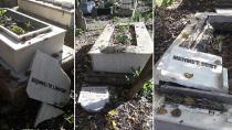 Adana'da Mezarlıkta Onlarca Mezar Taşı Kırıldı