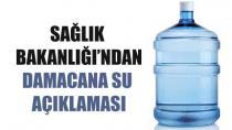 Sağlık Bakanlığı'ndan damacana sularla ilgili açıklama!
