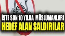 İşte son 10 yılda müslümanları hedef alan saldırılar