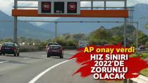 Otomobillere zorunlu hız sınırlama sistemine onay!