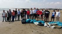 Karataş Belediyesi sahil temizliği yaptı...