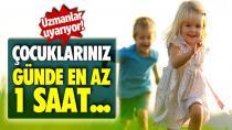 Çocuklar günde en az bir saat fiziksel aktivite yapmalı