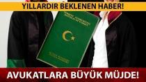 Avukatlara 'yeşil pasaport' müjdesi!