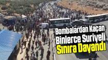 450 bin Suriyeli Türkiye sınırına dayandı!