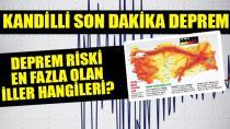 Deprem riski en yüksek ve en az olan iller açıklandı!