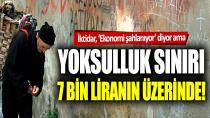 Yoksulluk sınırı 7 bin 229 lira oldu!