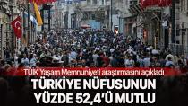 Türkiye'nin ne kadarı mutlu!