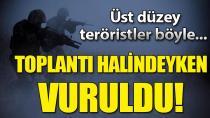 PKK'lı sözde yöneticiler toplantı halindeyken vuruldu
