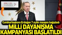 Erdoğan kampanyaya 568 bin 750 TL bağışladı...
