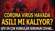 Corona virüs havada asılı kalarak bulaşır mı?