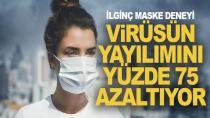 Virüsün yayılımını yüzde 75 azaltıyor!