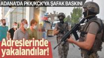 Adana'da terör örgütü PKKKCK'ya operasyon Çok sayıda gözaltı