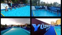 Adana'da Portatif Havuzlarda Yüzme Eğitimleri Başladı