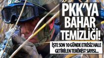 24 saatte 21, son 10 günde ise 118 PKK'lı terörist öldürüldü!