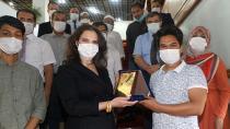 Tuncel, ÇÜ'de eğitim gören Bangladeşli öğrencilerle buluştu