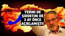 Naci Görür İzmir depremini 3 ay önceden bildi!