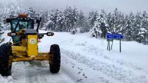 Büyükşehir karla mücadelede 24 saat görev başında