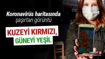 Adana'nın Kuzeyi Kırmızı Güney'i Yeşile döndü...!