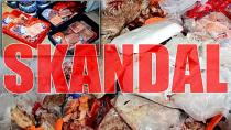 Markette yapılan kontrolde 250 kilo bozulmuş et ele geçirildi
