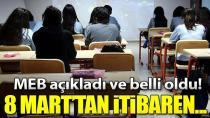 Sınavlar için okullar 8 Mart'tan itibaren planlama yapacak.