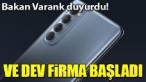 Türkiye'de deneme üretimlerine başladı...
