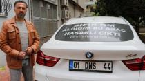Sıfır kilometre aldığı lüks cip hasarlı çıktı, arkasına astığı yazıyla Türkiye'yi dolaşıyor