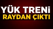 Adana'da yük treni raydan çıktı: 2 Makinist yaralandı...