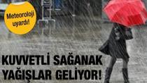 Meteoroloji'den birçok il için yağmur uyarısı