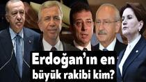 Erdoğan'a en yakın rakip belli oldu!