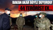 44 terörist etkisiz hale getirildi...