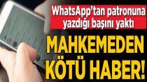 WhatsApp mesajı işten atılma sebebi