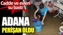 Vatandaşlar aniden basan su nedeniyle zor anlar yaşadı...