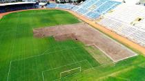Tarihi 5 Ocak Stadı'nın çimleri sökülüyor!