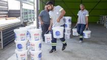 Seyhan Belediyesi'nden okullara boya desteği....