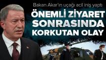 Milli Savunma Bakanı Akar'ın uçağı Adana'ya acil iniş yaptı